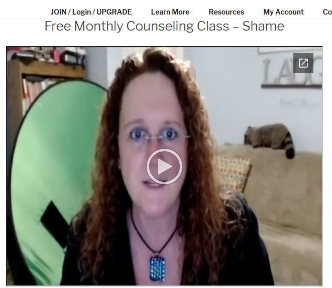Free Monthly Class - Shame - Video